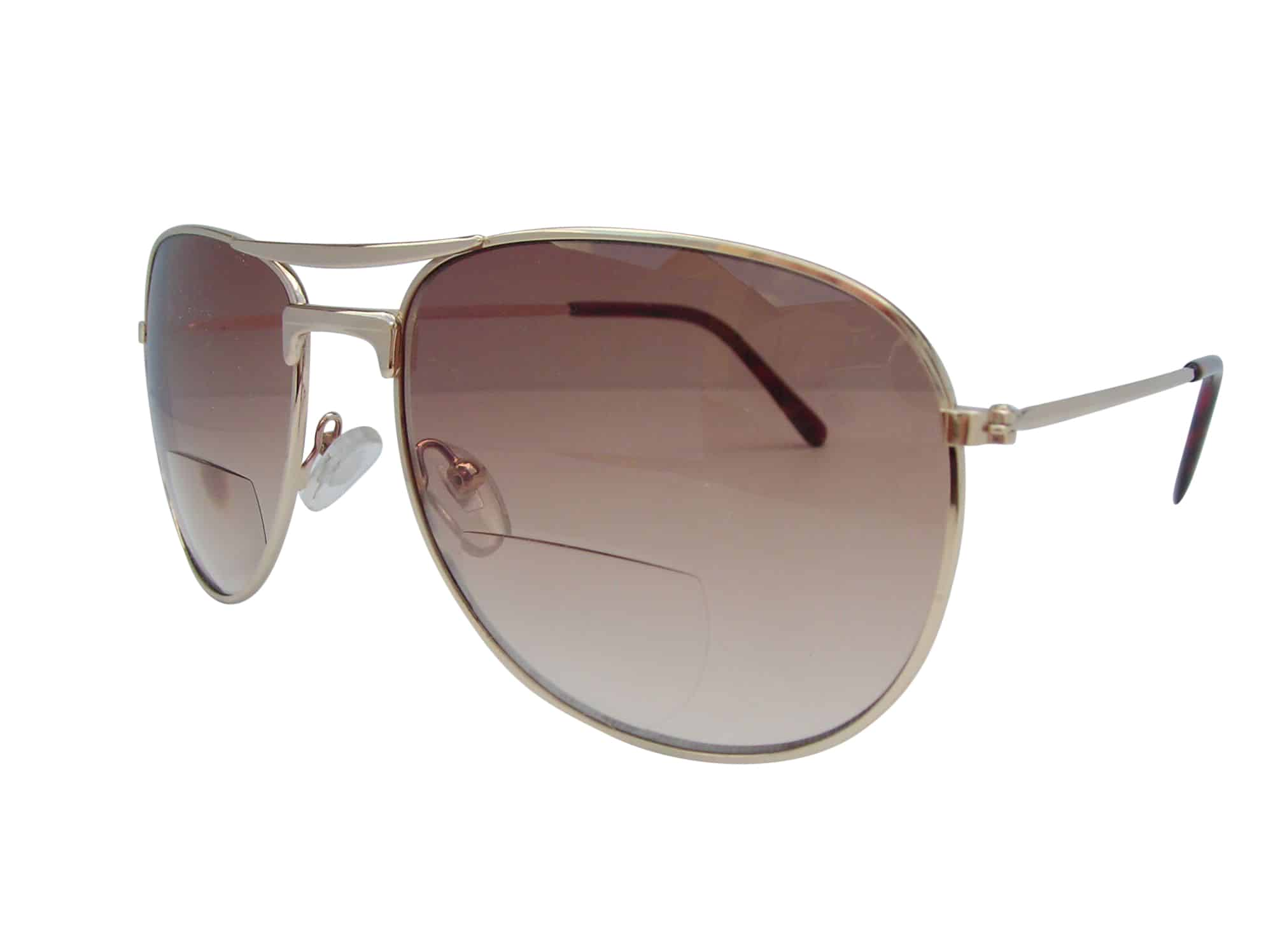 70c2fa04ba3 Gold Aviator Pilot Bifocal Sunglasses